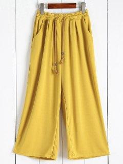 Elastic Waist Culotte Pants - Ginger L