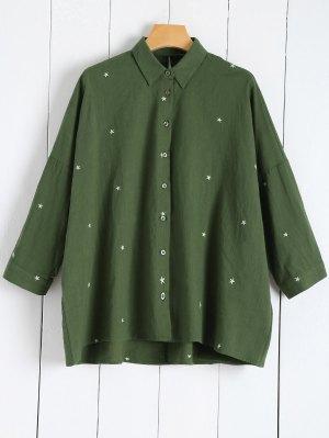 Shirt Da Estrela Bordada - Verde M