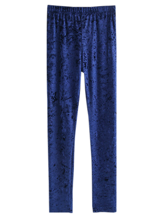 Leggings de veludo magros - Cadetblue M