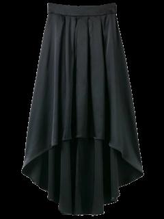 Bowknot Asymmetrical Skirt - Black M