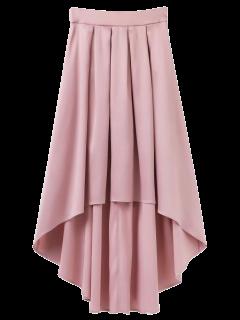 Bowknot De La Falda Asimétrica - Rosa Luz L