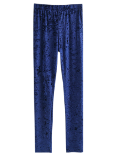 Skinny Velvet Leggings - Cadetblue M