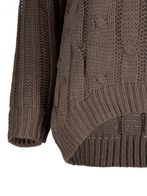 new Crisscross Back V Neck Sweater - BLACKISH GREEN ONE SIZE Mobile