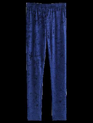 Jambières En Velours Très Mince - Bleu Cadette S