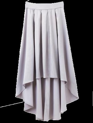 Bowknot De La Falda Asimétrica - Gris Claro M