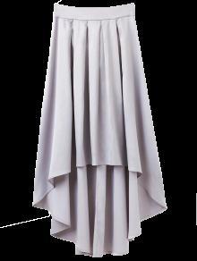 تنورة بونوت غير متماثلة - رمادي فاتح M