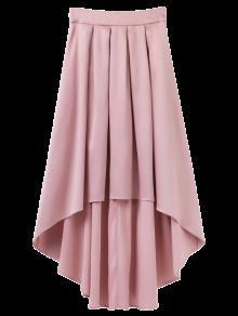 Bowknot Asymmetrical Skirt - Light Pink L
