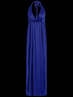 Rajó El Vestido Maxi Del Entrecruzamiento - Azul S