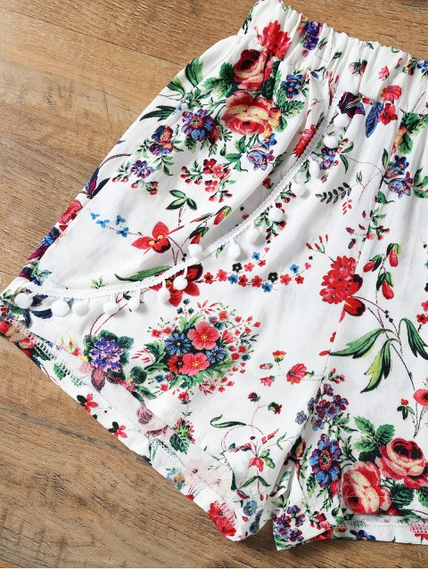 Floral Print Layered Cami Top et Short - Rouge L Mobile