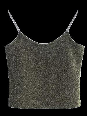 Camisole Coupée à Pailletes - Vert