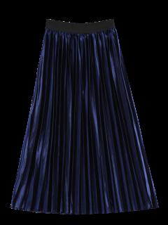 Acordeón Plisado De La Falda - Azul Zafiro