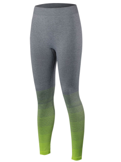 Gradient Color Sport Running Leggings - Fluorescent Yellow M