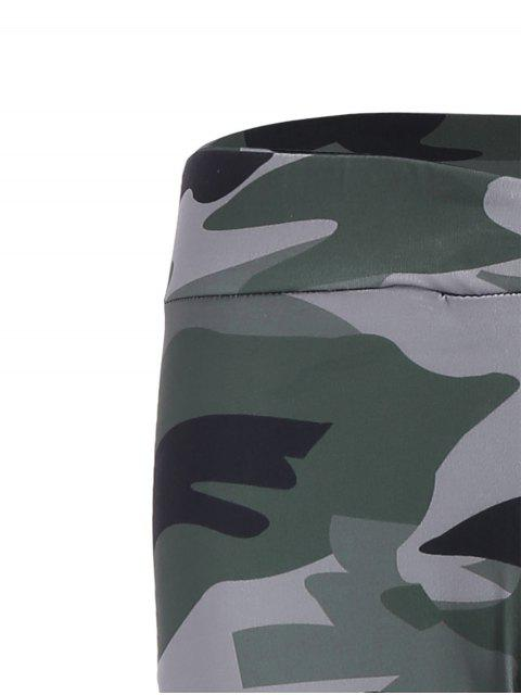 womens Camo Print Insert Gym Leggings - CAMOUFLAGE M Mobile