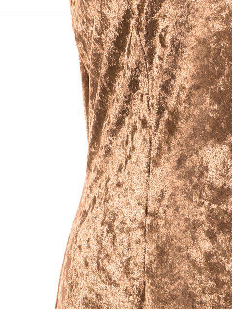 Robe crayon longue bretelles - Kaki S Mobile