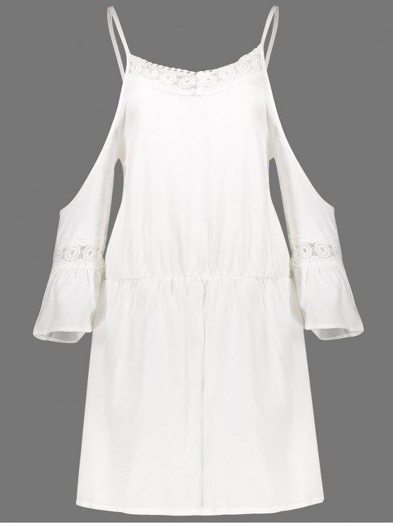 أنيق السباغيتي حزام 3/4 كم بلون تقسم المرأة رومبير - أبيض L
