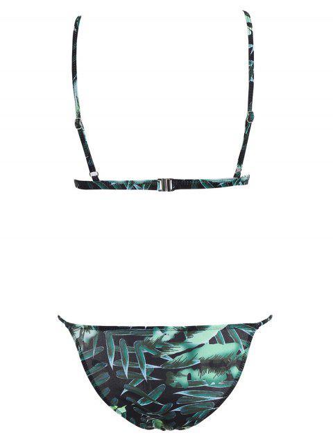 outfits Low Waisted Printed Cami Bikini Set - MULTI XL Mobile