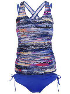 Backless Tankini Swimsuits - Blue 2xl