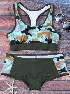Racerback Camo Swimsuits - Army Green L