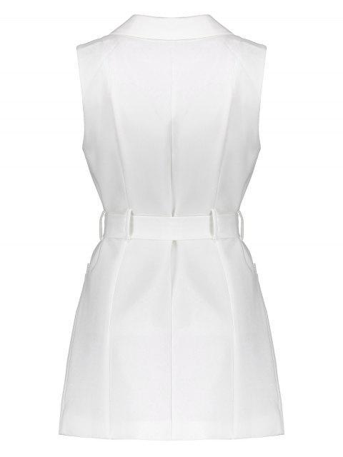 fashion Sleeveless Blazer - WHITE M Mobile