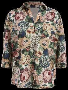 Floral Vintage Shirt - Green L