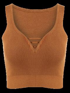 Sin Mangas De Cuello En V Suéter - Terroso S
