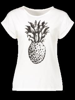 Pineapple Pattern T-Shirt - White 2xl