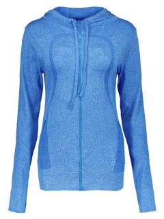 Sports Zipper Hoodie - Blue M