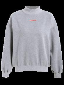 Lettering Fleece Sweatshirt - Gray