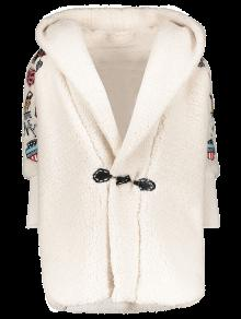 Embroidered Lamb Wool Coat OFF-WHITE: Jackets & Coats ONE SIZE | ZAFUL