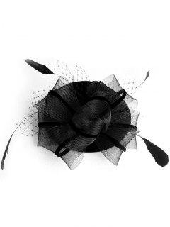 Fascinator Mesh Pillbox Hat - Black