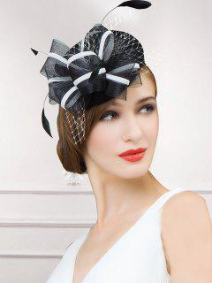 Fascinator Mesh Pillbox Hat - White And Black
