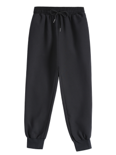 Drawstring Design Jogging Pants - Black S