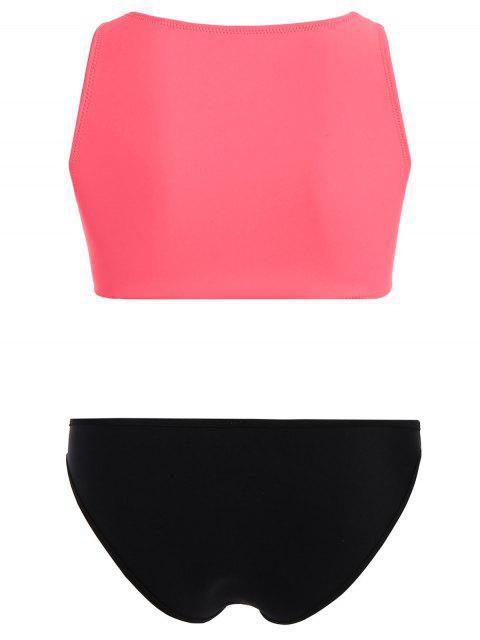 hot Half Zip Neoprene Bikini Set - WATERMELON RED M Mobile