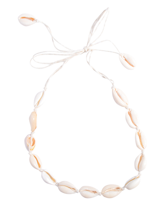 fashion Shell Choker Necklace - WHITE