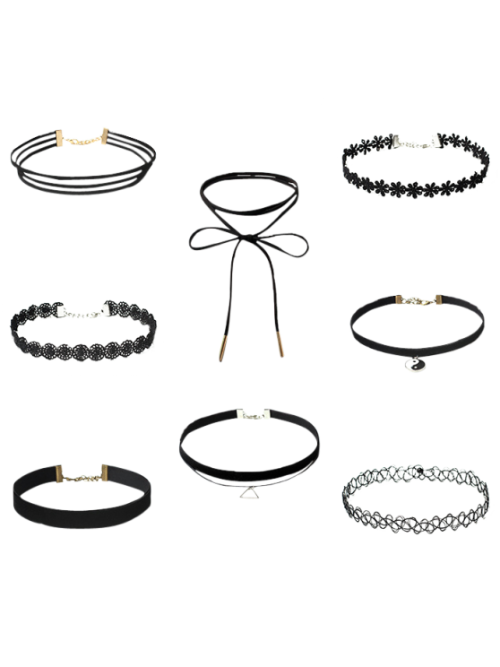 new Choker Necklaces Set - BLACK