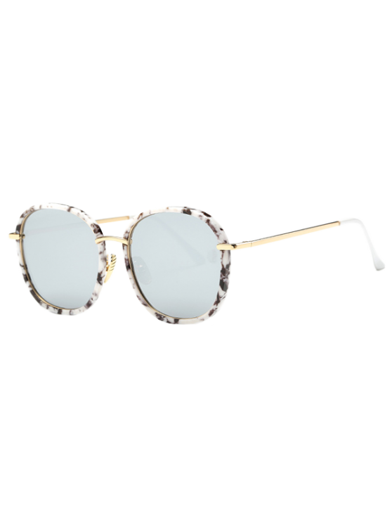 buy Marble Oversized Mirrored Sunglasses - WHITE