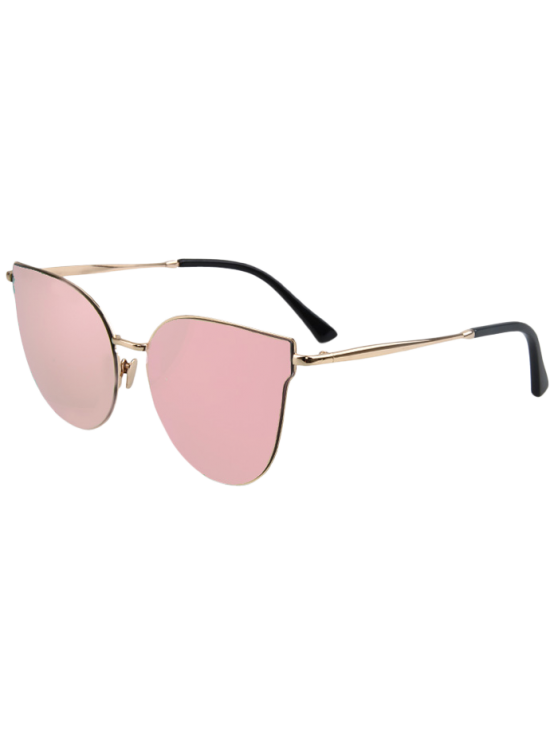 fashion Street Fashion Golden-Rim Cat Eye Sunglasses - PINK