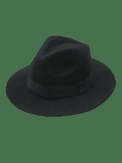 Vintage Sombrero De Fieltro Fieltro - Negro