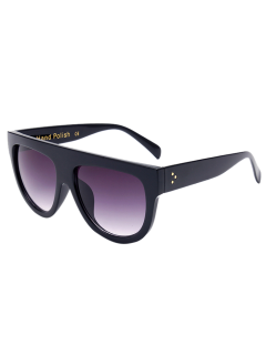 Simple Full-Rim Black Sunglasses - Black