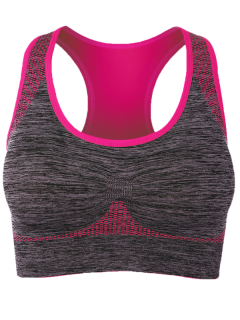 Padded Racerback Gym Sports Bra - Rose Madder L