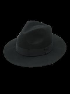 Vintage Felt Fedora Hat - Black