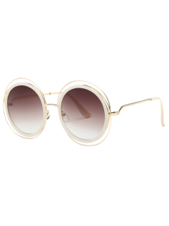 Cut Out Round Sunglasses - Tea-colored