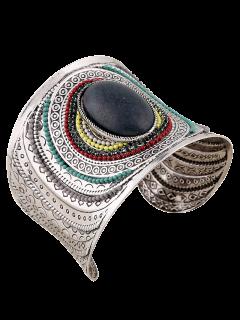 Bracelet Grand En Turquoise à Poignet - Noir