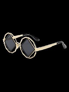 Rhombus Irregular Sunglasses - Black