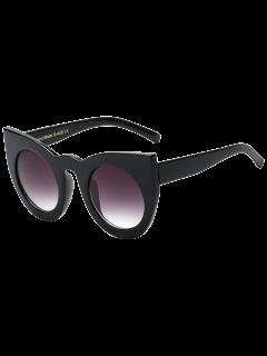 Rundlinsenkatzenaugen-Sonnenbrille - Schwarz