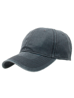 Water Wash Do Old Baseball Hat - Deep Gray