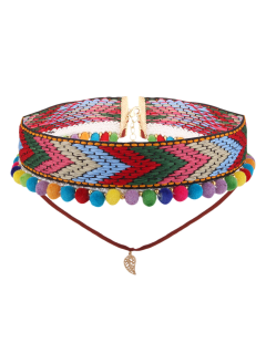 Colorful Leaf Arrow Crochet Choker Necklace