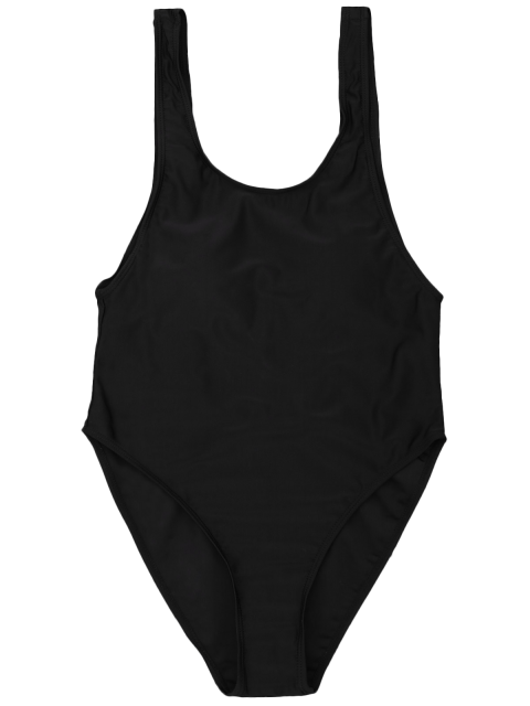 sale One Piece Backless Swimsuit - BLACK M Mobile