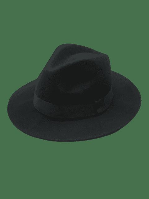 Vintage sombrero de fieltro fieltro - Negro  Mobile