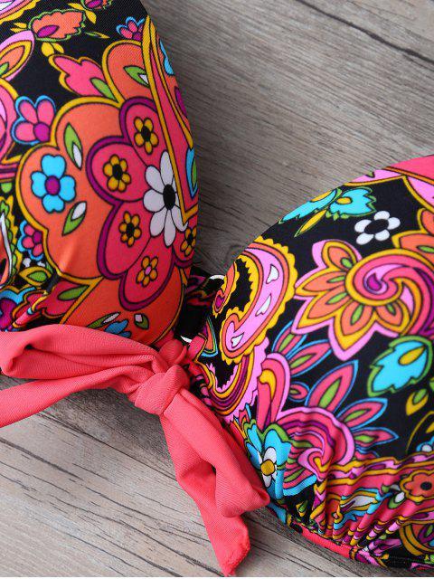 chic Print Side-Tie Bikini Set - JACINTH L Mobile